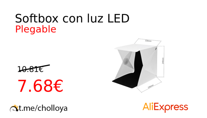 Softbox con luz LED