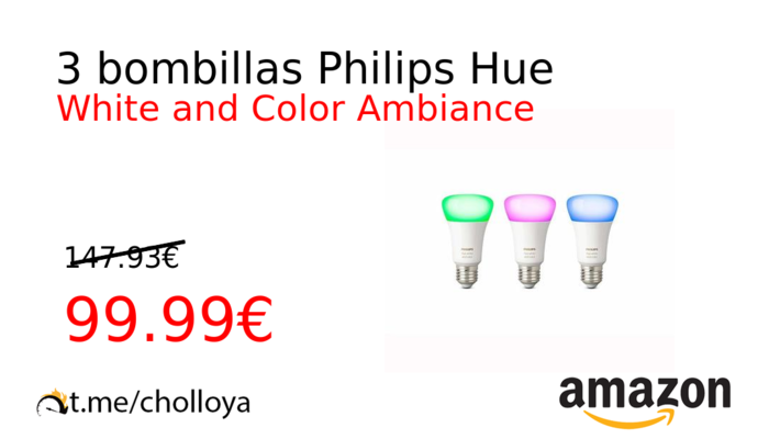 3 bombillas Philips Hue