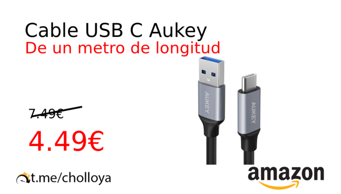 Cable USB C Aukey