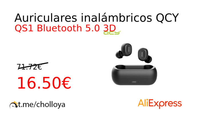 Auriculares inalámbricos QCY