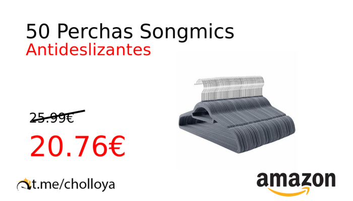 50 Perchas Songmics