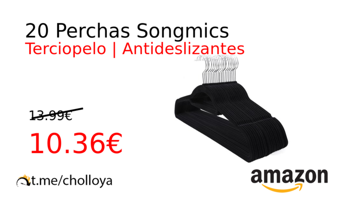 20 Perchas Songmics