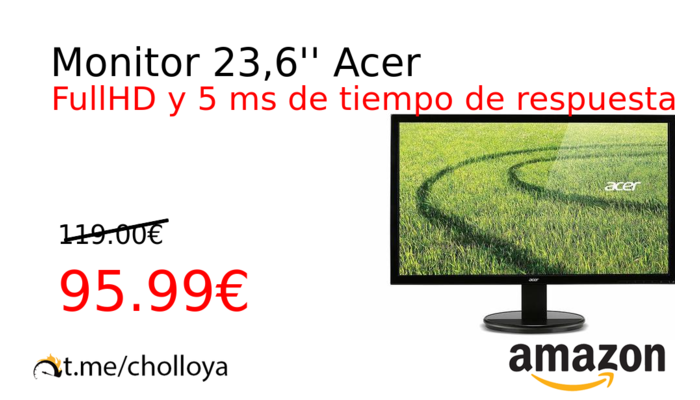 Monitor 23,6'' Acer