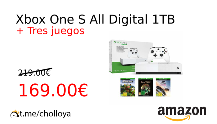 Xbox One S All Digital 1TB
