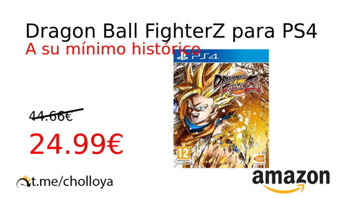 Dragon Ball FighterZ para PS4