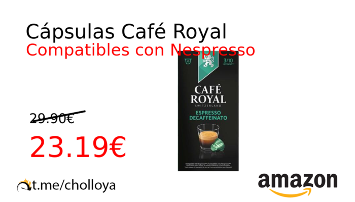Cápsulas Café Royal