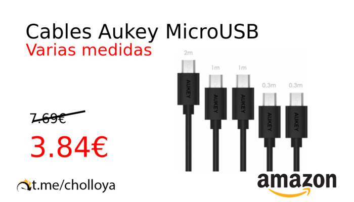 Cables Aukey MicroUSB