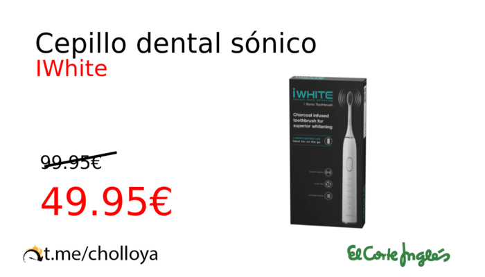 Cepillo dental sónico