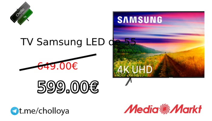 TV Samsung LED de 55""