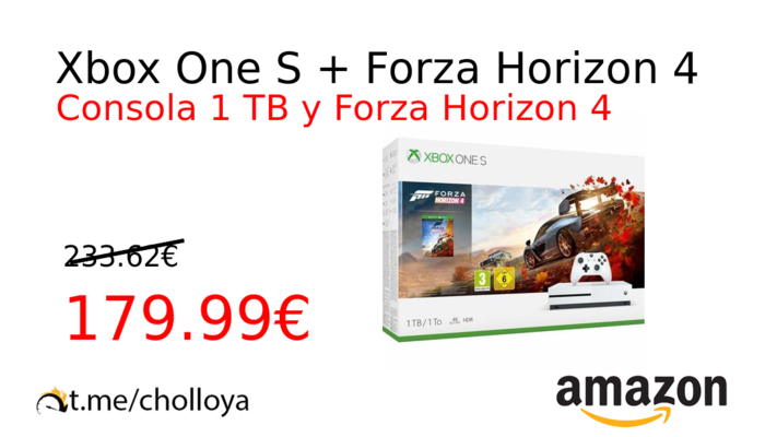 Xbox One S + Forza Horizon 4
